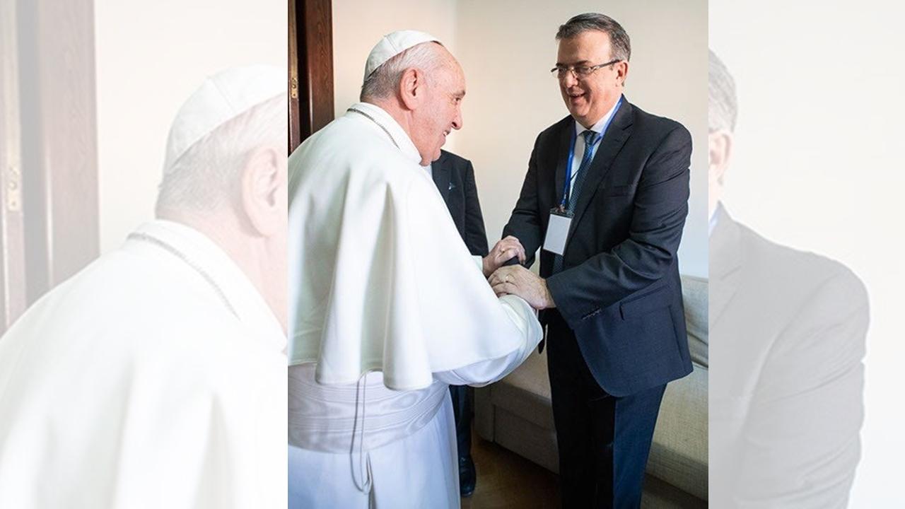 Ebrard se reunió con el Papa la semana pasada, previo a filtración de carta
