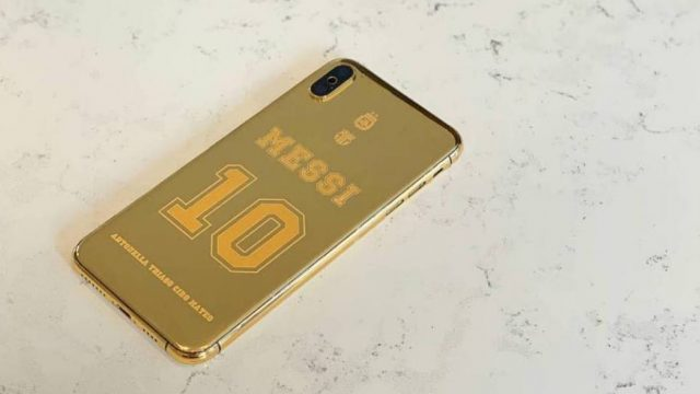 Lionel Messi iPhone oro