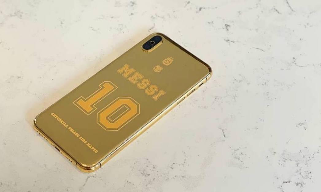 Cuánto cuesta el iPhone de oro de Lionel Messi