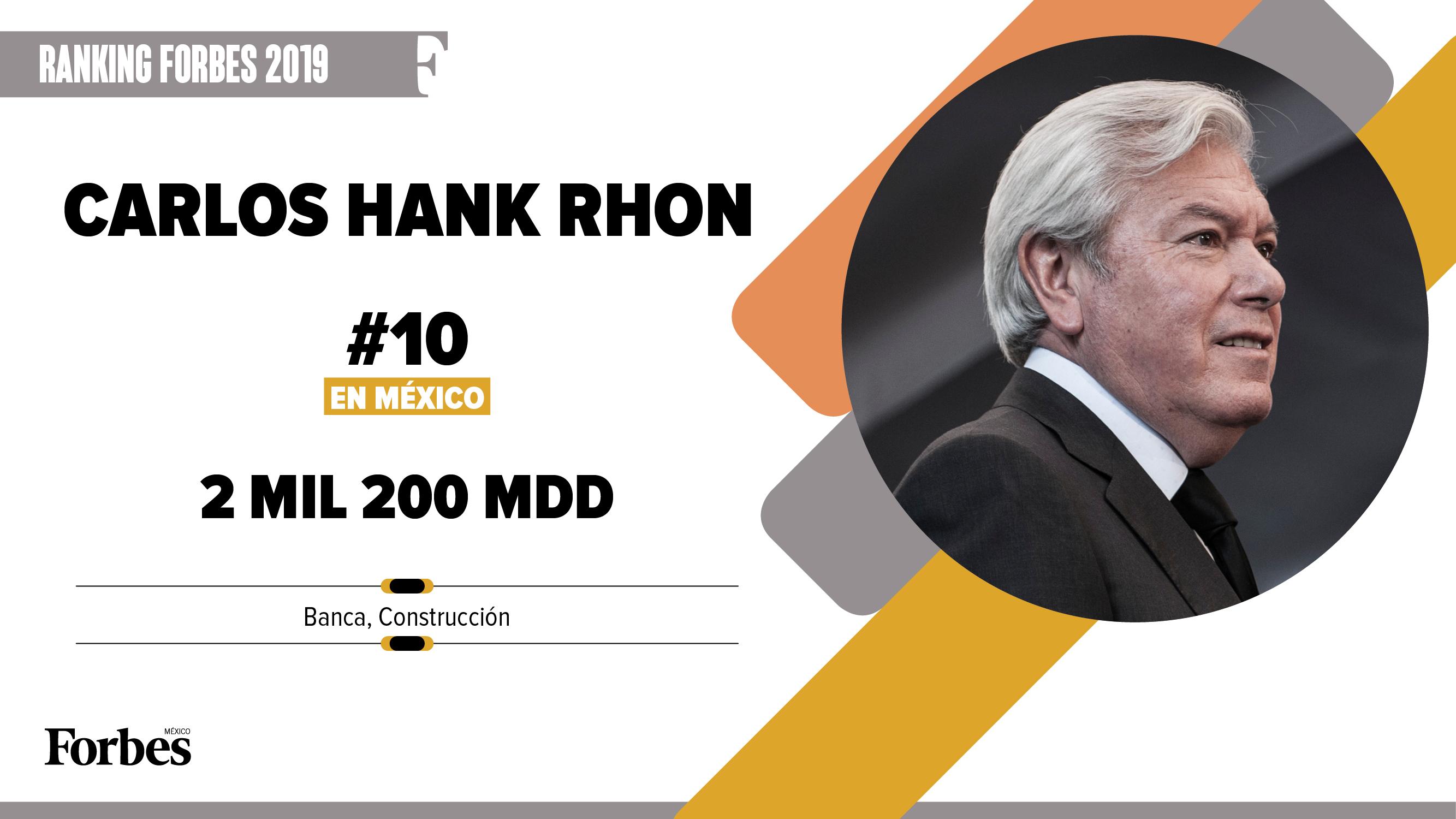 Billionaires 2019 | Carlos Hank Rhon, bancos y construcción
