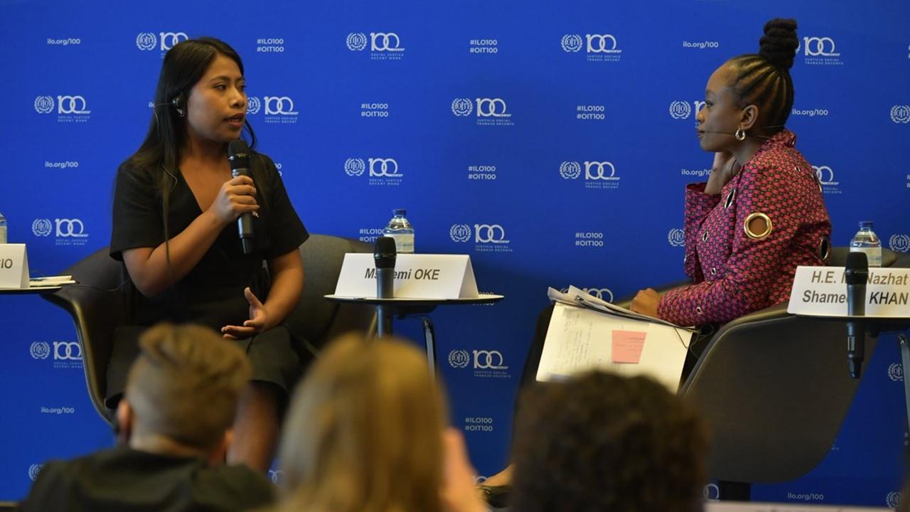 Yalitza Aparicio aboga en la OIT por reconocimiento laboral de la mujer