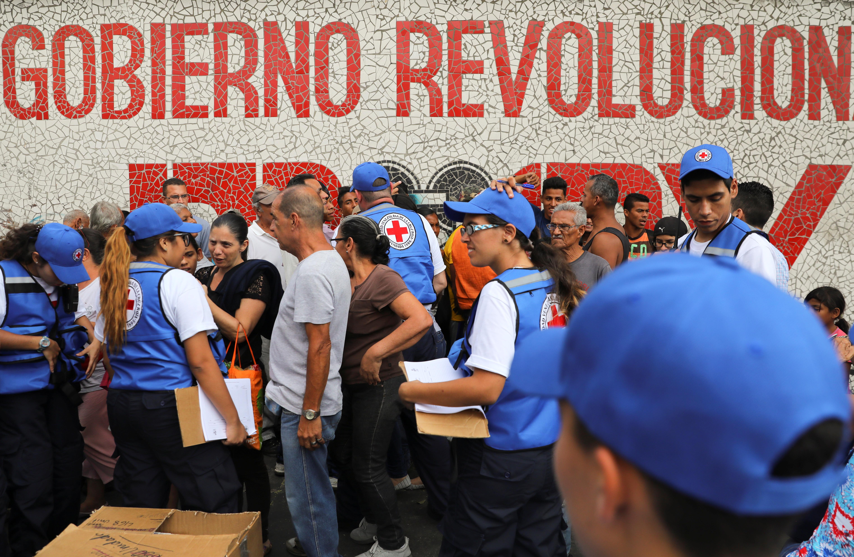 Cruz Roja inicia distribución de ayuda humanitaria en Venezuela