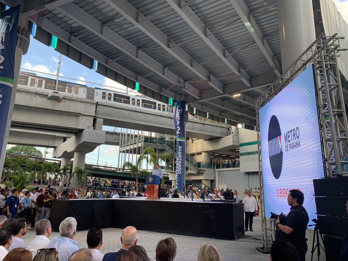 Panamá inaugura línea 2 del metro; obra construida por Odebrecht
