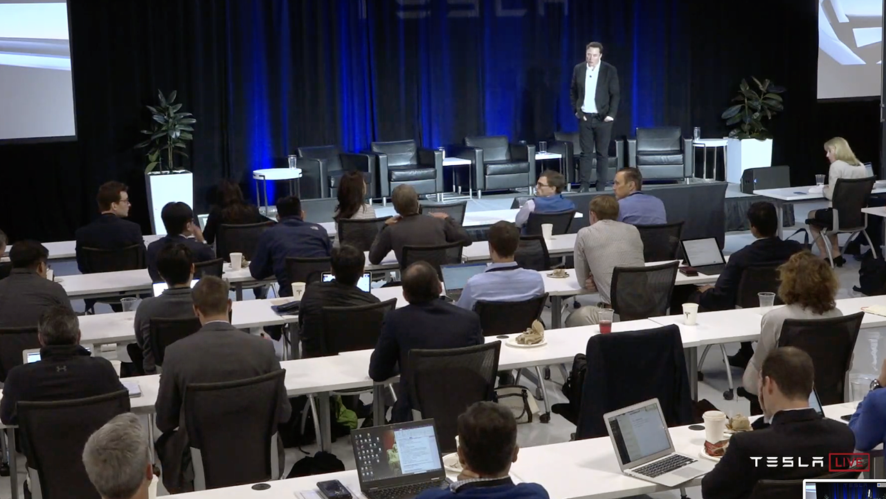 The Autonomy Investors Day. Foto Tesla Live.