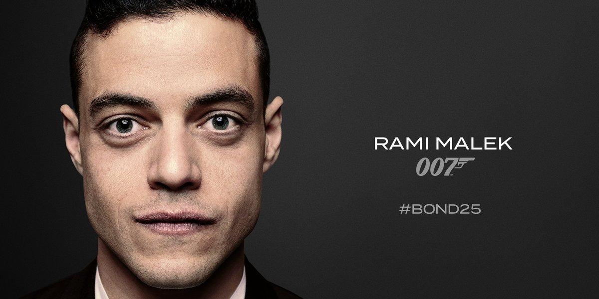 Rami Malek será el villano de la próxima película de James Bond