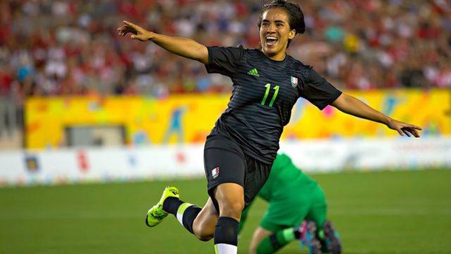 La jugadora Mónica Ocampo.