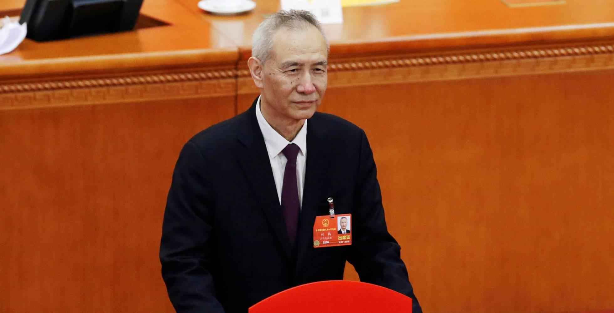 Liu He, viceprimer ministro chino y máximo responsable económico. Foto Reuters.
