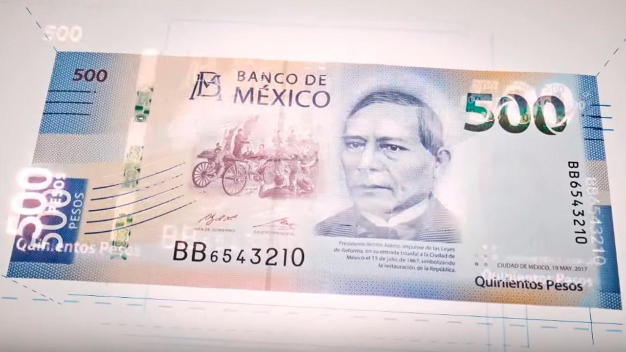 Billete de 500 pesos, uno de los más hermosos del mundo