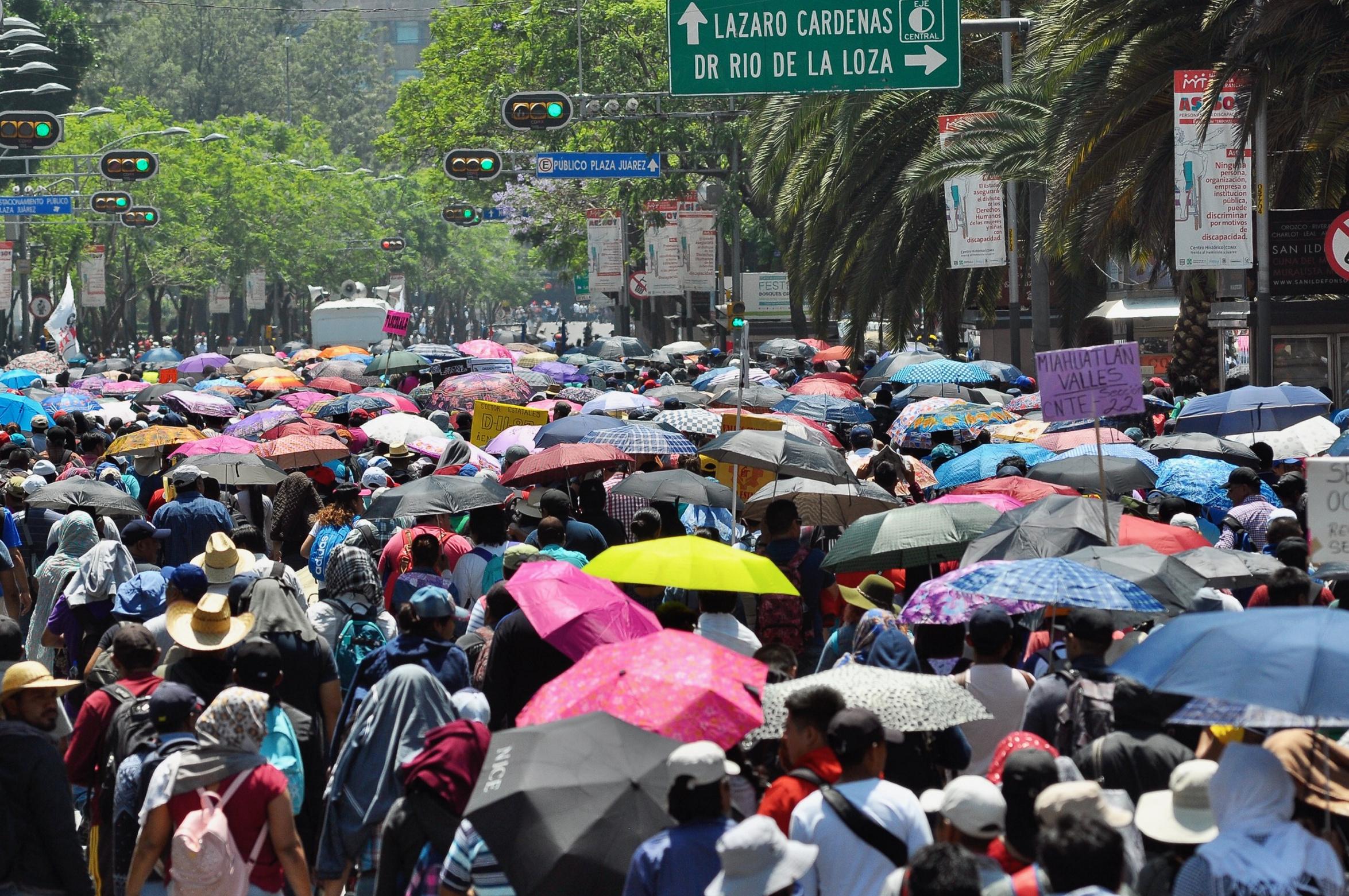 Este martes habrá siete marchas en Ciudad de México
