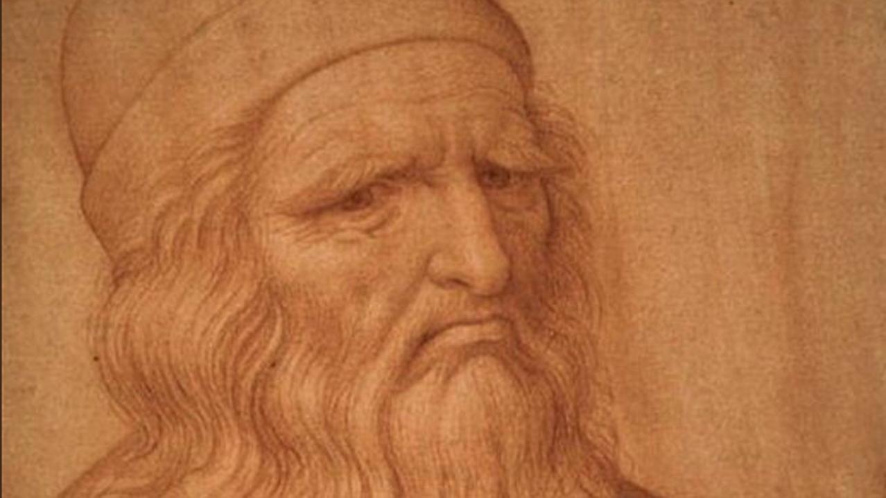 Retrato ilustrado de Leonardo Da Vinci. Foto @912CroozeFM