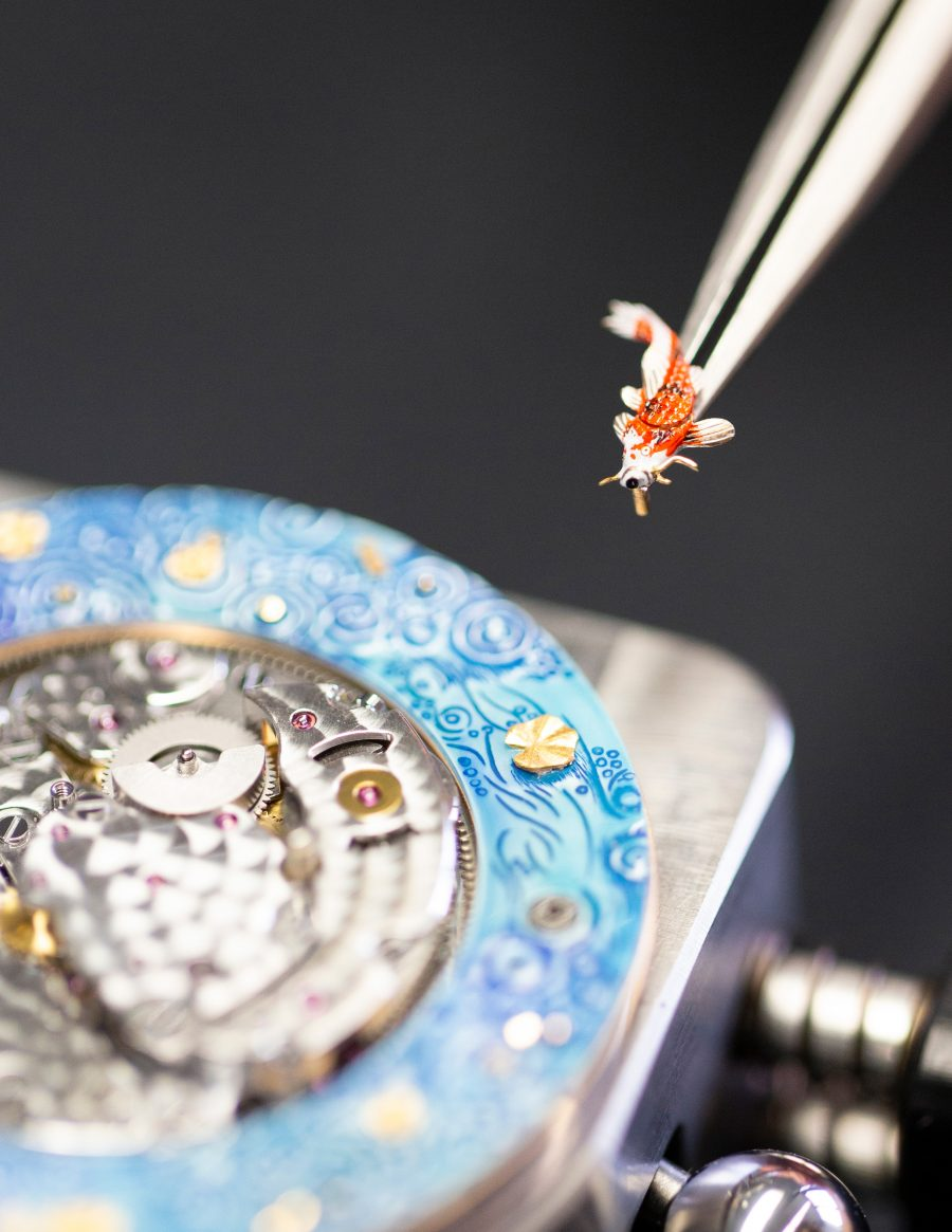 Jaquet Droz recrea un jardín zen en Magic Lotus Automaton