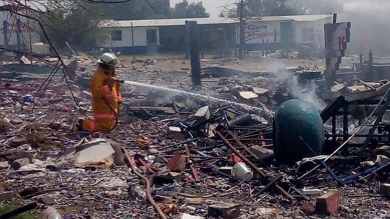 Explosión en Tultepec deja un muerto y cuatro heridos