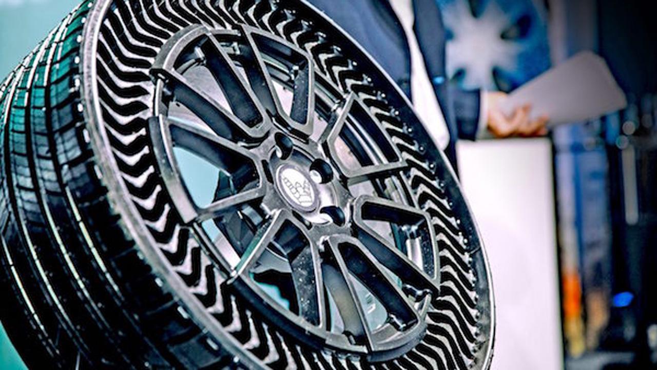 Michelin y GM se asocian para lanzar revolucionarios neumáticos sin aire