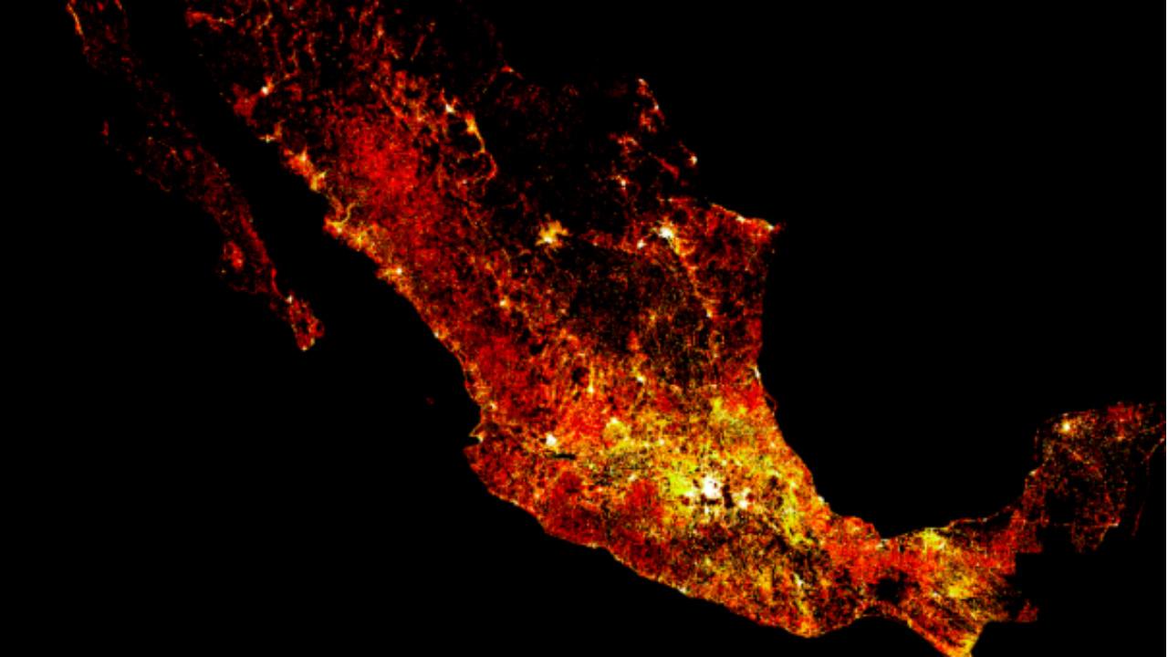 Los mapas de densidad poblacional de Facebook