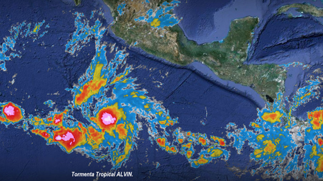 SMN alerta formación de Alvin, la primer tormenta tropical del año en el Pacífico