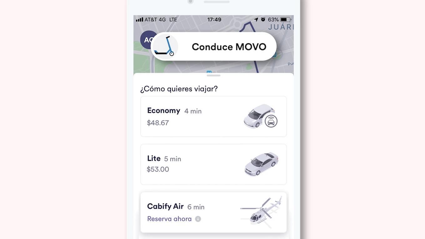 Cabify, Movo e Easy Taxi se integran en una sola app