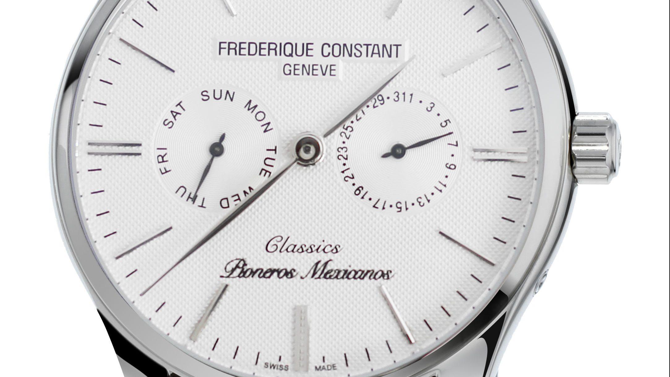 Frédérique Constant crea un reloj inspirado en la Fuerza Aérea Mexicana