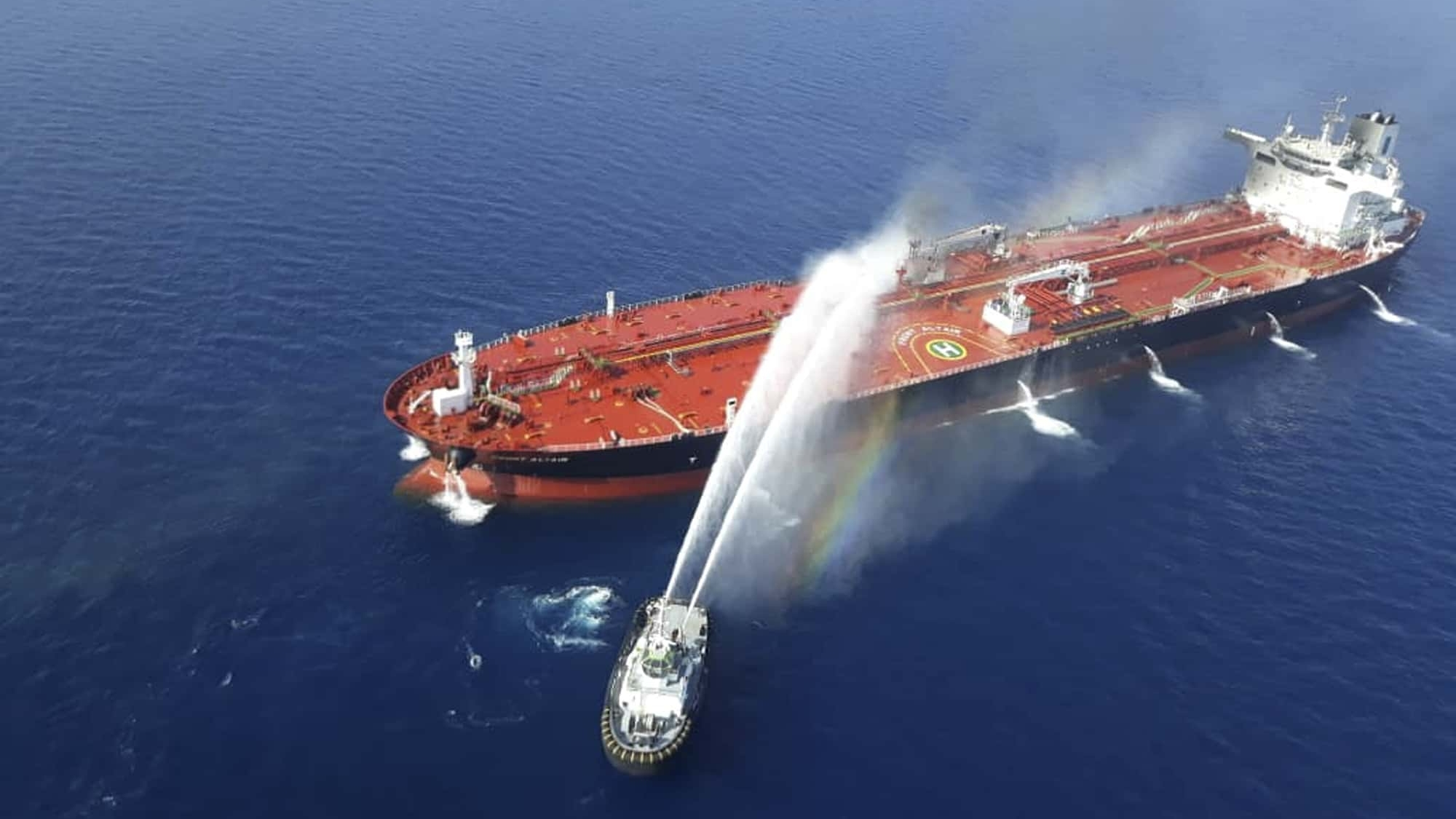 Irán retuvo barco petrolero de Reino Unido por participar en accidente