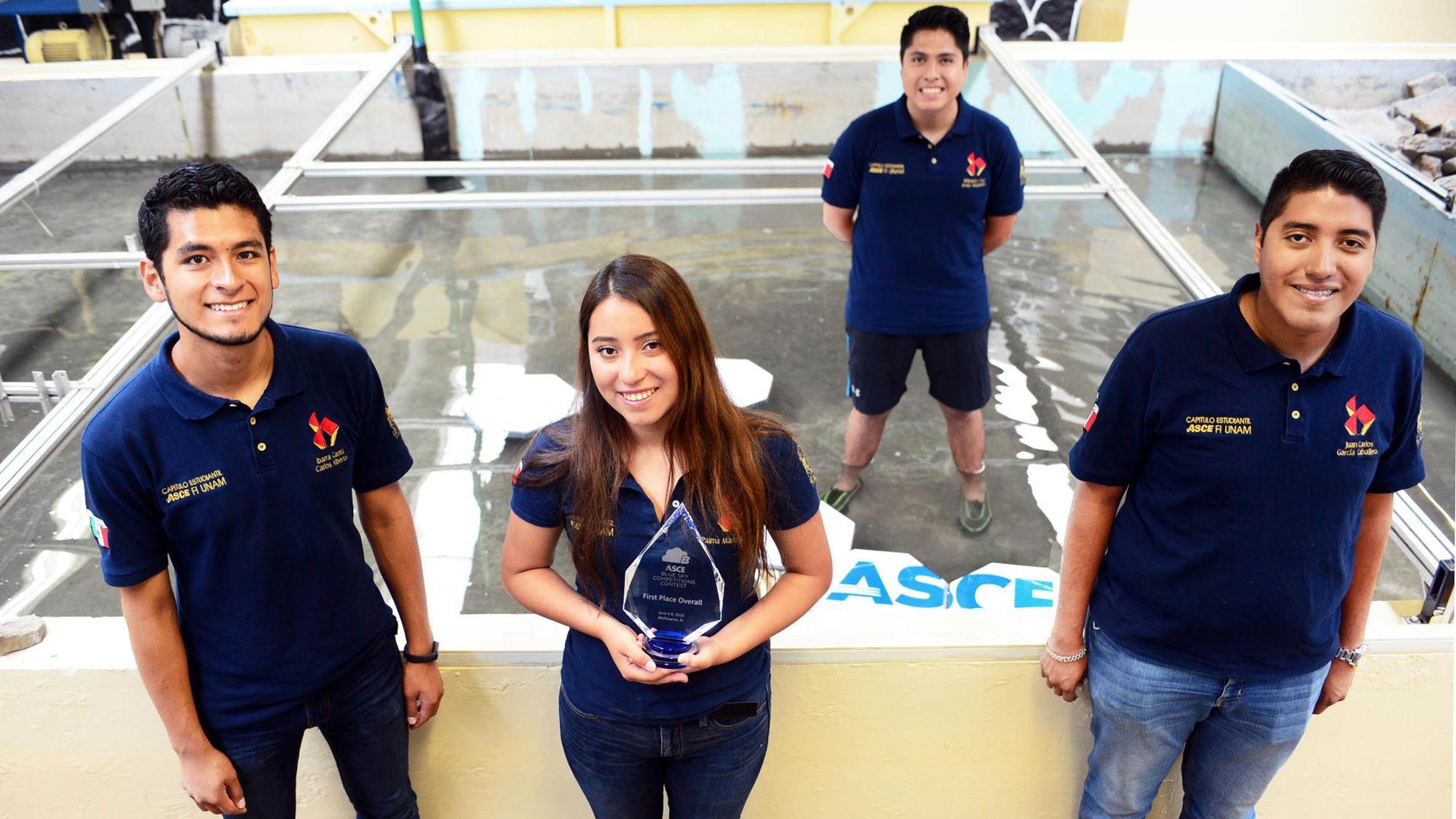 Estudiantes de la UNAM ganan concurso de ingeniería civil en EU