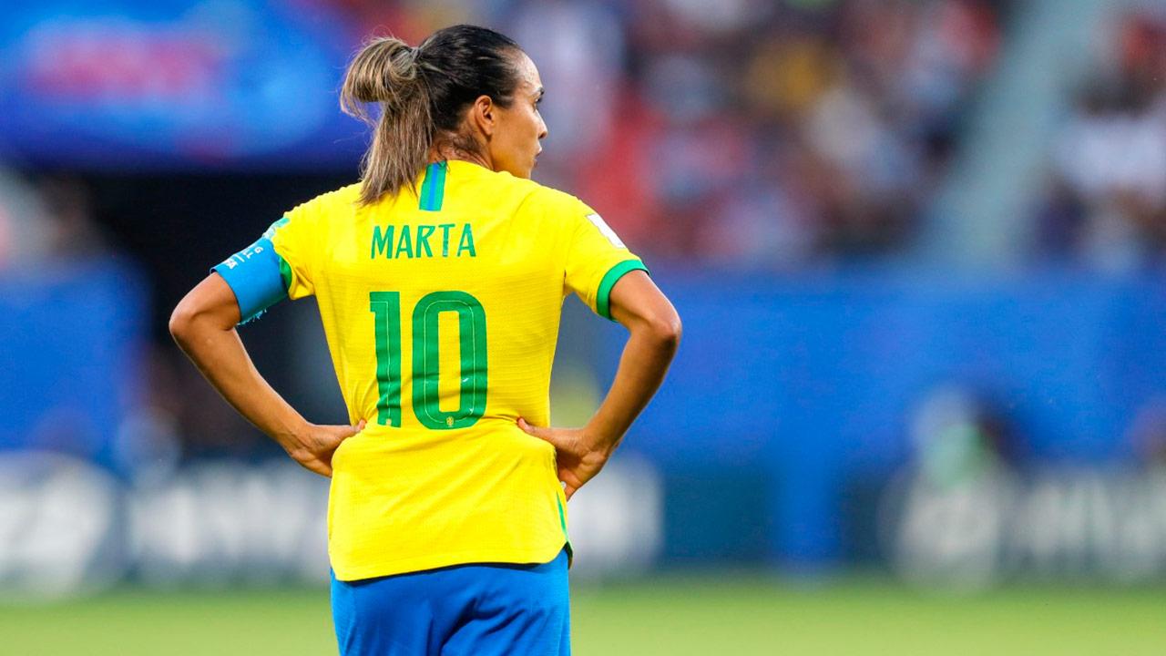 Brasil vence a Italia y Marta es la goleadora de la historia de los mundiales