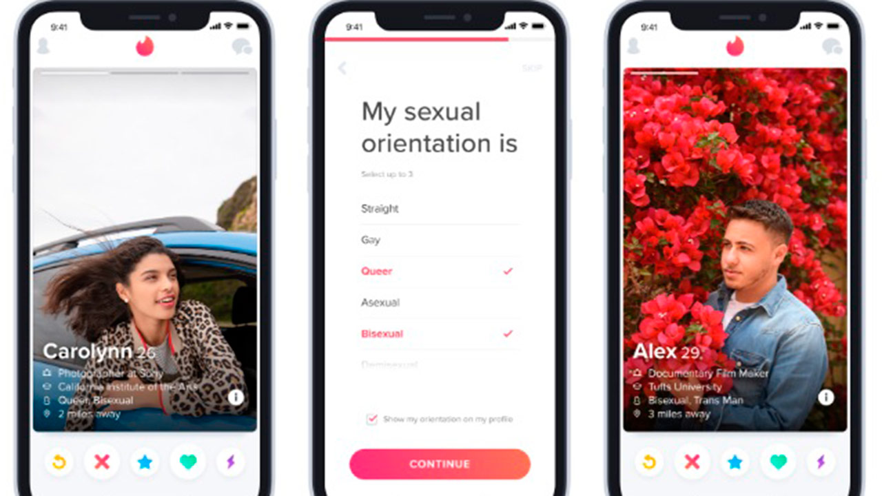 Tinder ahora dejará identificarte como transgénero o bisexual