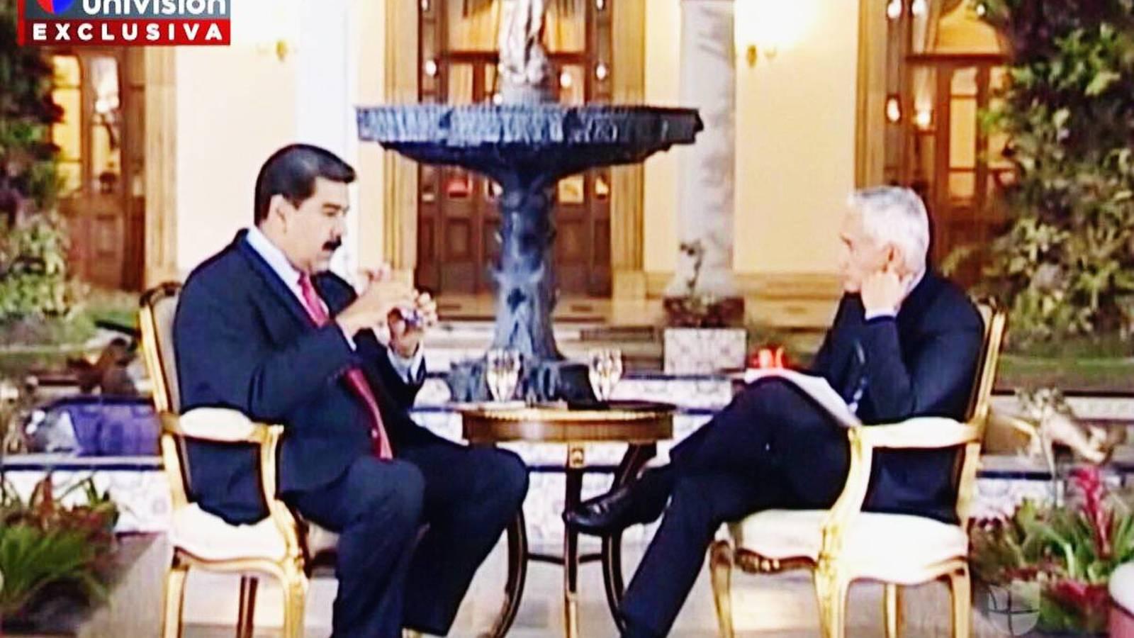 'Eres un opositor de derecha', dijo Maduro a Ramos en entrevista censurada