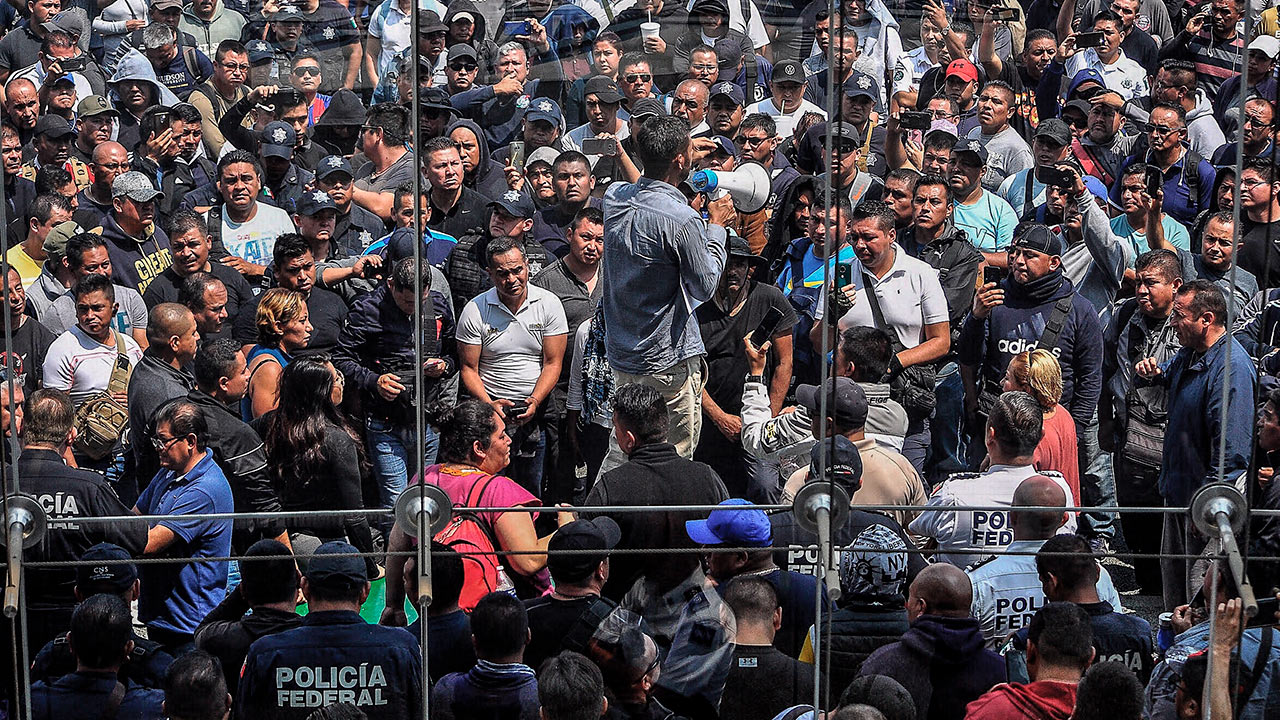 Fotogalería | Así se viven las protestas de la Policía Federal contra la Guardia Nacional