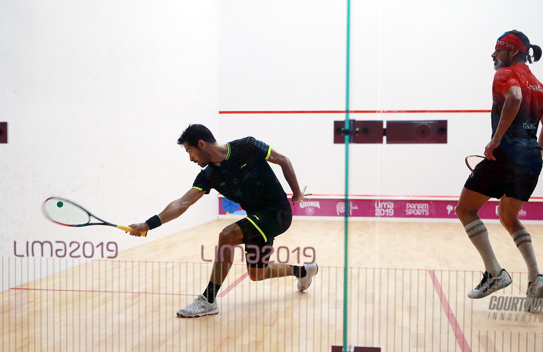 Hermanos Salazar, semifinalistas en squash de Panamericanos Lima 2019