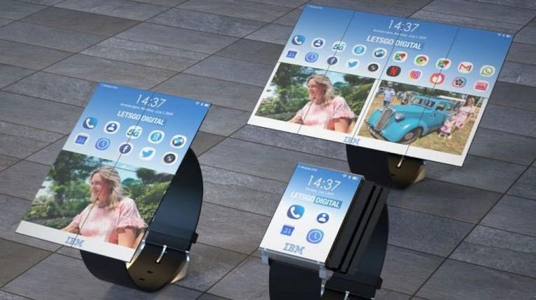 IBM patentó reloj inteligente que se expande como teléfono y tableta