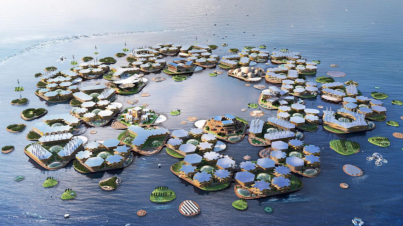 Ciudades flotantes, la propuesta a la ONU ante la subida del nivel del mar