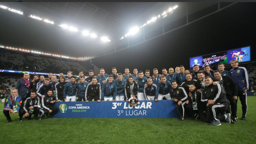 Argentina derrota a Chile y queda tercero en la Copa América Brasil 2019