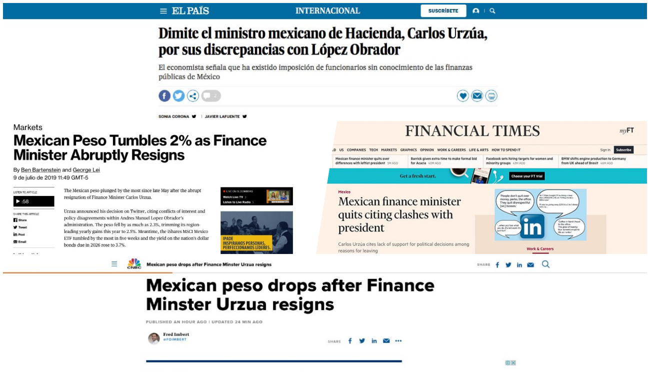 Prensa internacional ve 'duro golpe' al gobierno de AMLO por salida de Urzúa