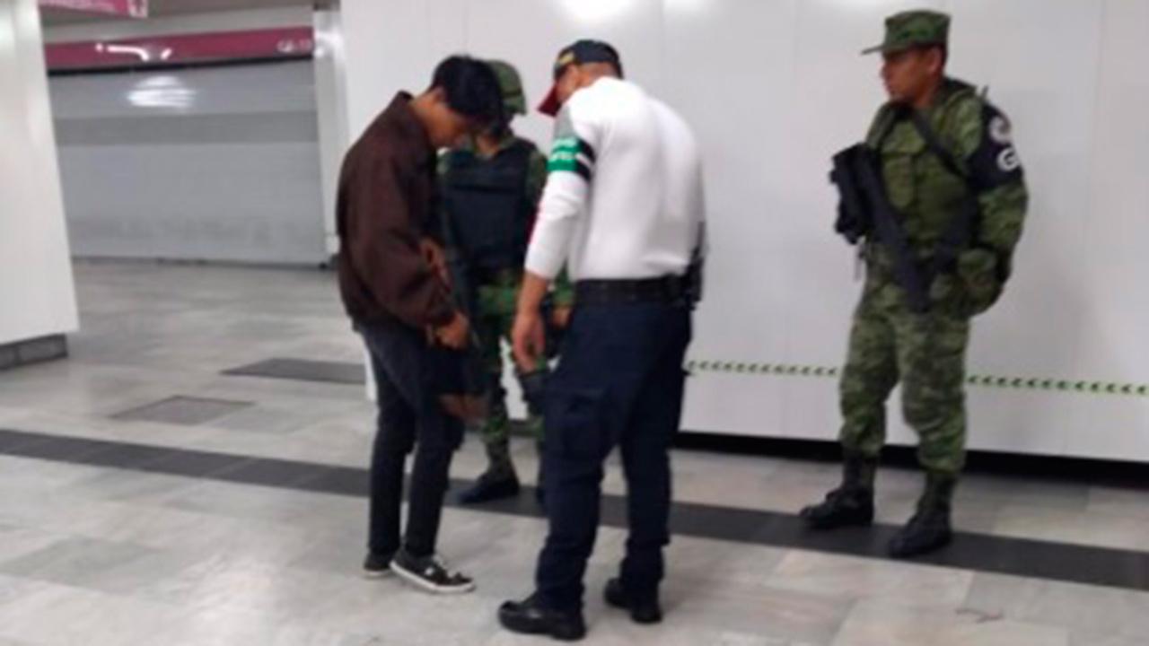 Guardia Nacional ya vigila el Metro de CDMX