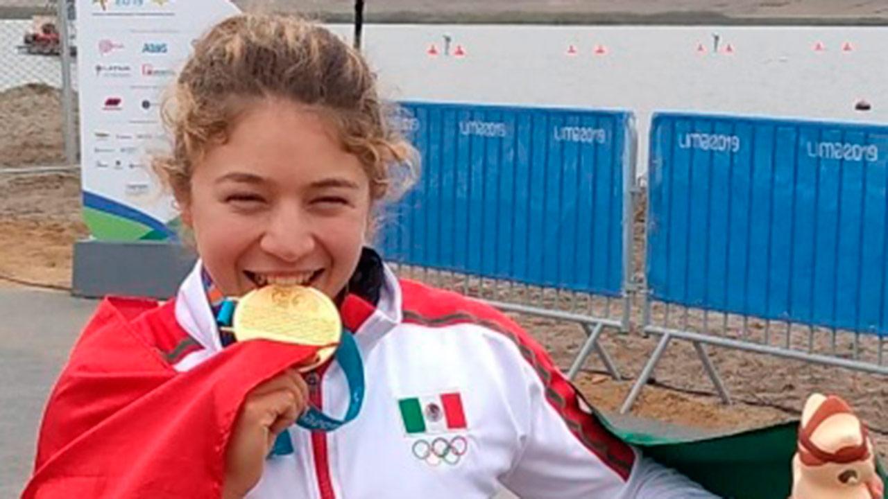 Mexicana Beatriz Briones conquista el oro en canotaje de velocidad en Lima 2019