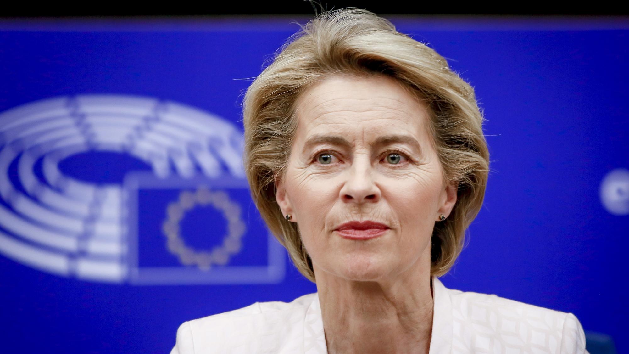 Nominada para presidir la Comisión Europea busca apoyo del Parlamento
