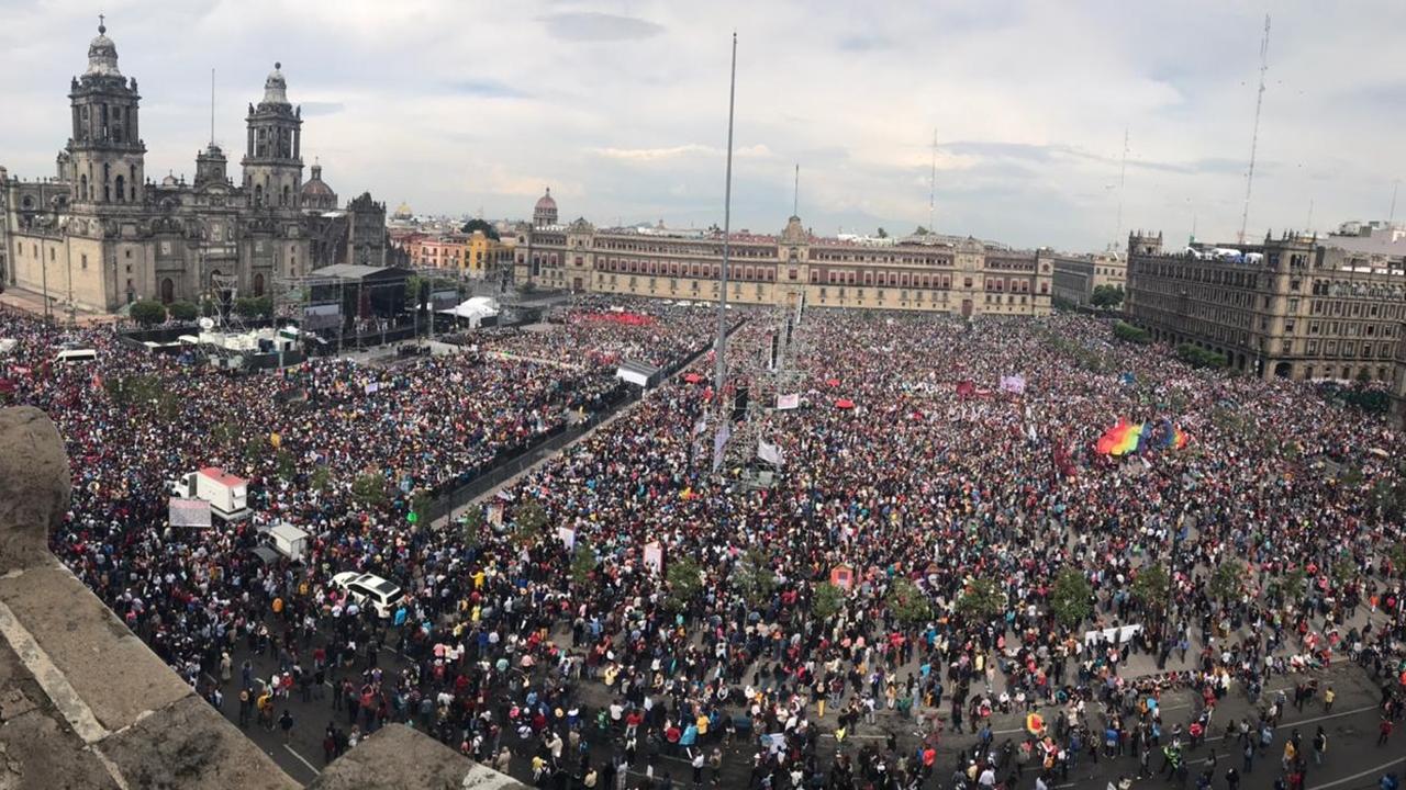 Casi 100,000 personas acudieron al informe de López Obrador