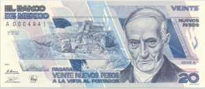 Billete 20 pesos