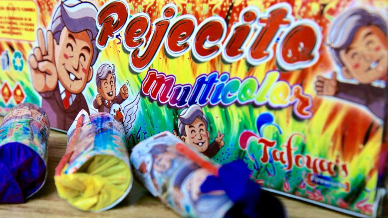 Cohete de AMLO llamado 'Pejecito', producto estrella en Tultepec