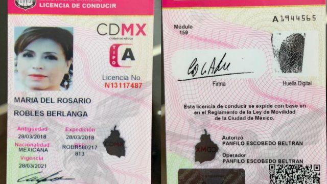 Licencia-Rosario-Robles