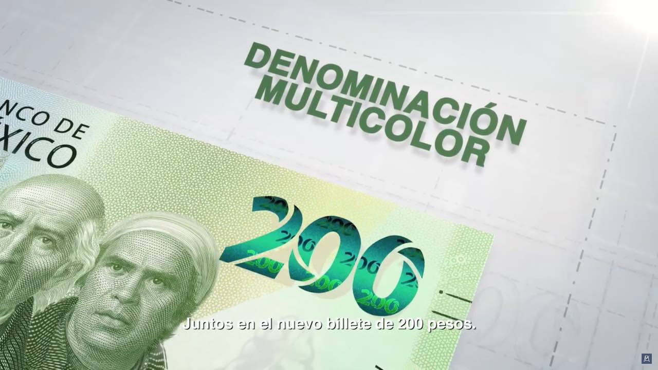 Estos son los elementos de seguridad del nuevo billete de 200 pesos