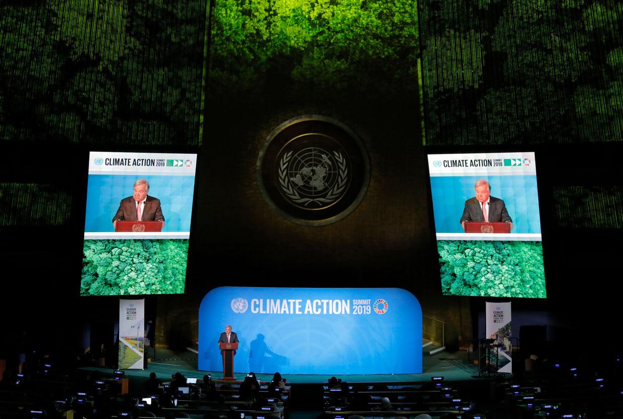 Cumbre del clima en la ONU: 66 países se comprometen a la huella de carbono cero