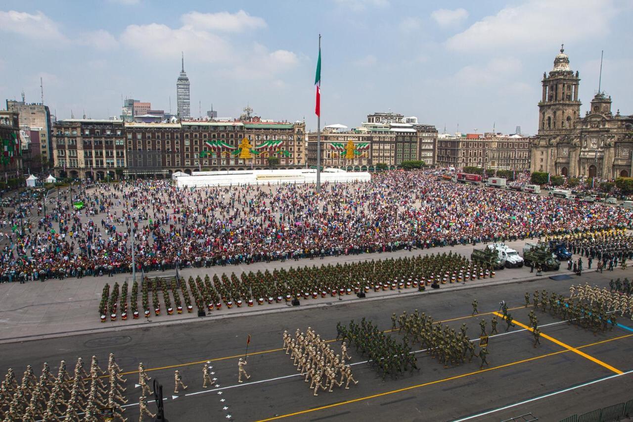 Desfile militar 2019, participa Guardia Nacional