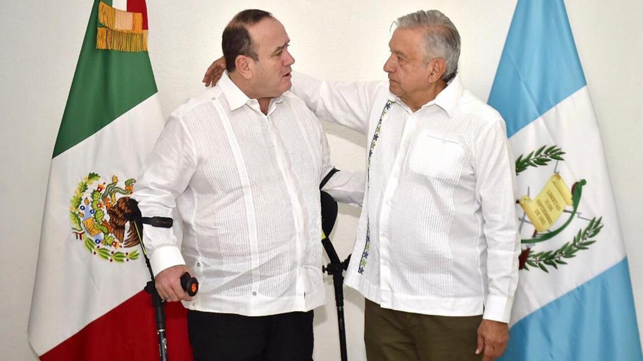 AMLO se reúne con presidente electo de Guatemala
