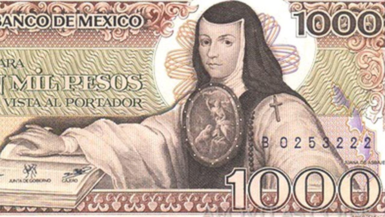 Así ha evolucionado Sor Juana en los billetes