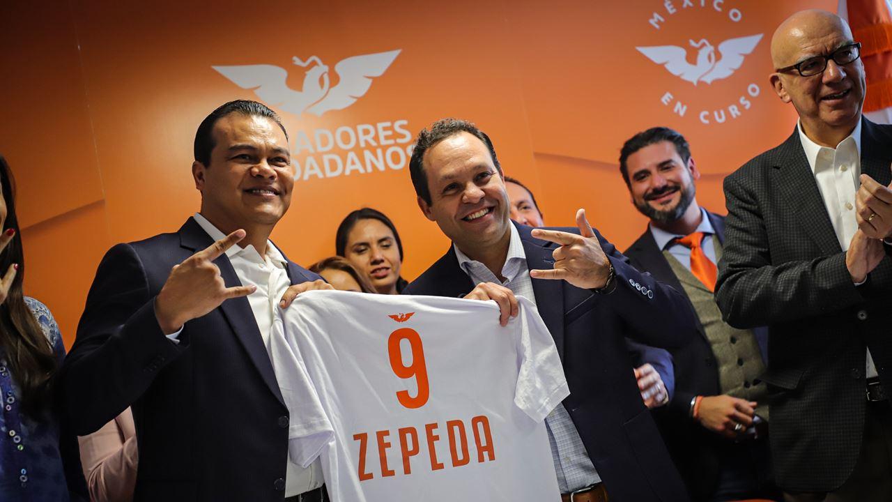 Juan Zepeda se suma a Movimiento Ciudadano tras su salida del PRD