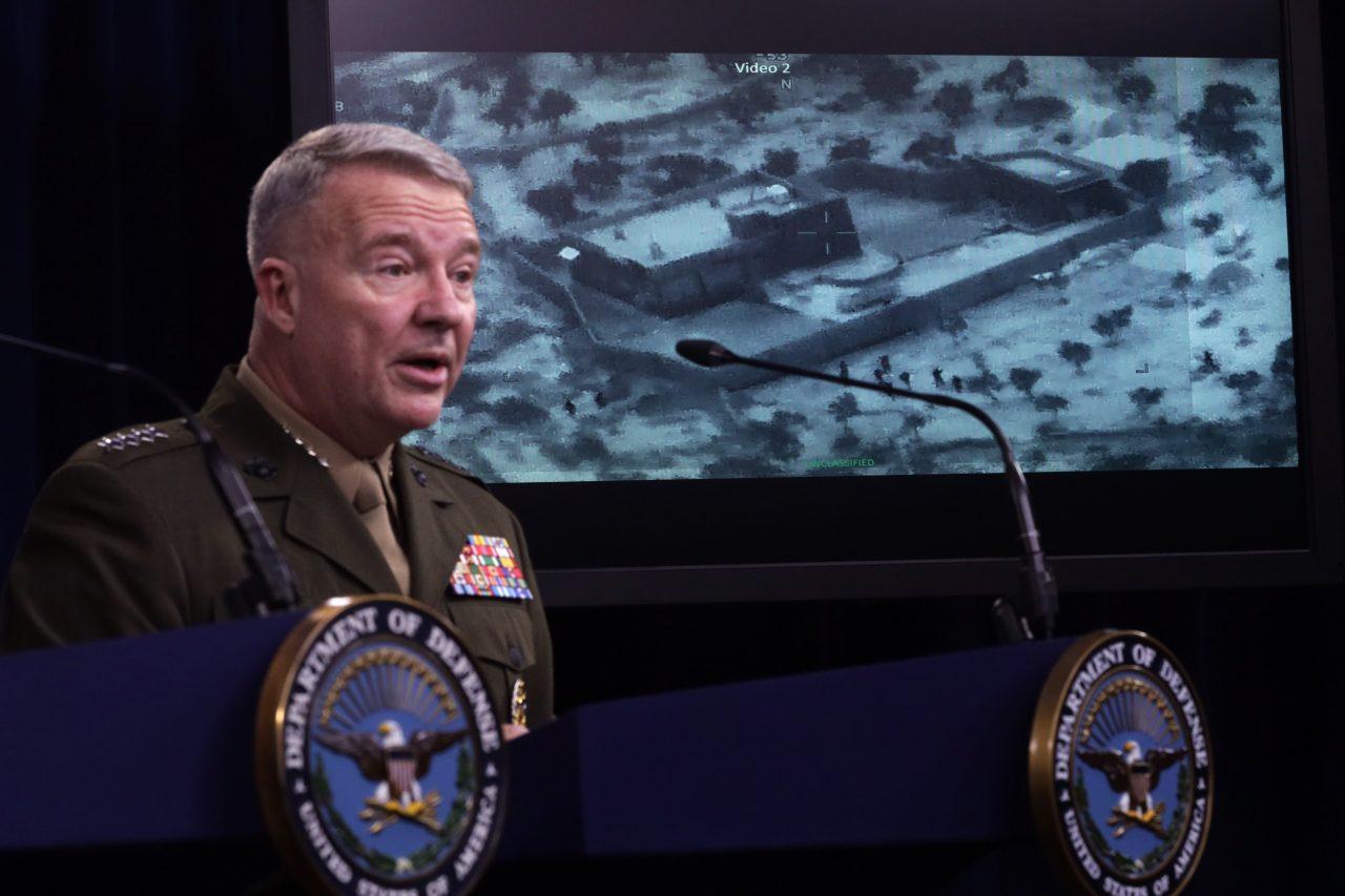 Pentágono difunde imágenes y videos de operación que mató a Bagdadi en Siria