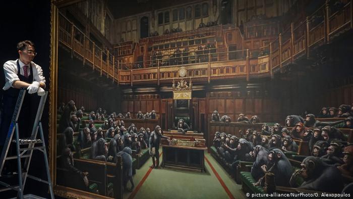 Los 12 millones de dólares por sátira de Banksy sobre la Cámara de los Comunes