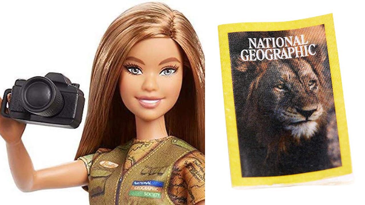 Barbie creció y ahora es la nueva fotoperiodista de National Geographic