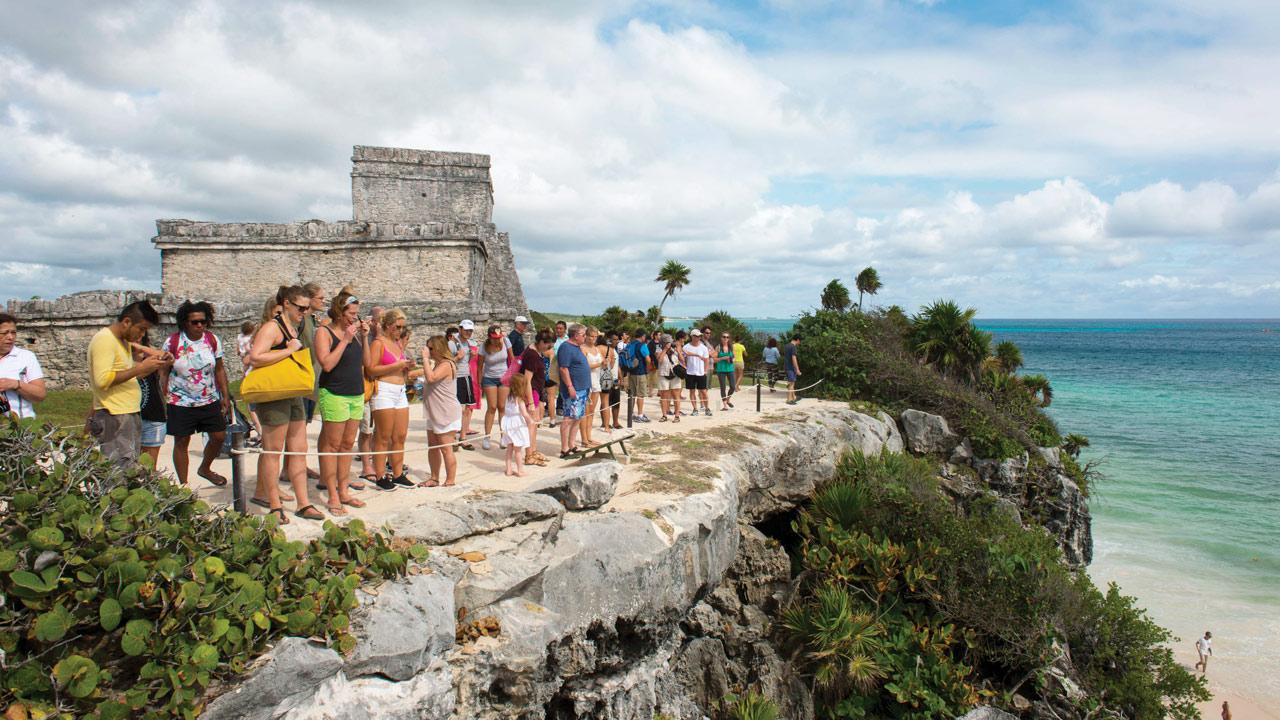 Turistas-en-la-Riviera-Maya, Tulum. México. Foto: Wolfgang Kaehler/LightRocket vía Getty Images.