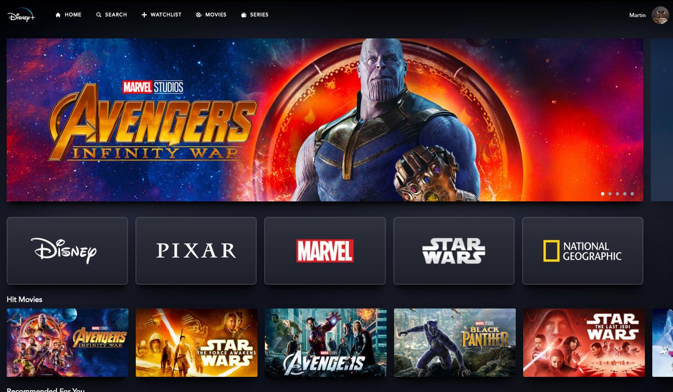 Disney presume el catálogo completo de su nueva plataforma de streaming